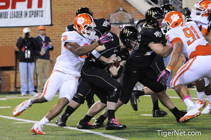 Clemson at Wake Forest (2nd Half) Photos - 2012, Football, Vic Beasley, Wake Forest