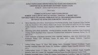 Rapat Pimpinan Fakultas Adab dan Humaniora KIP Versi Dekanan Telah di Bubarkan