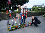 Preparations for St Mary's Flower Festival in September 2012