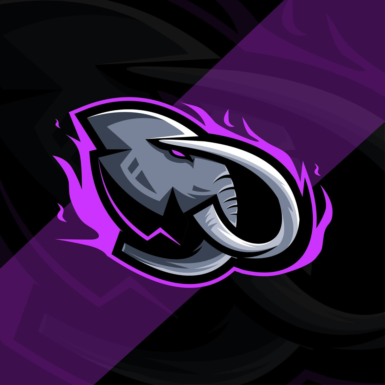 Head Elephant Mascot Logo Esport Design Free Download Vector CDR, AI, EPS and PNG Formats