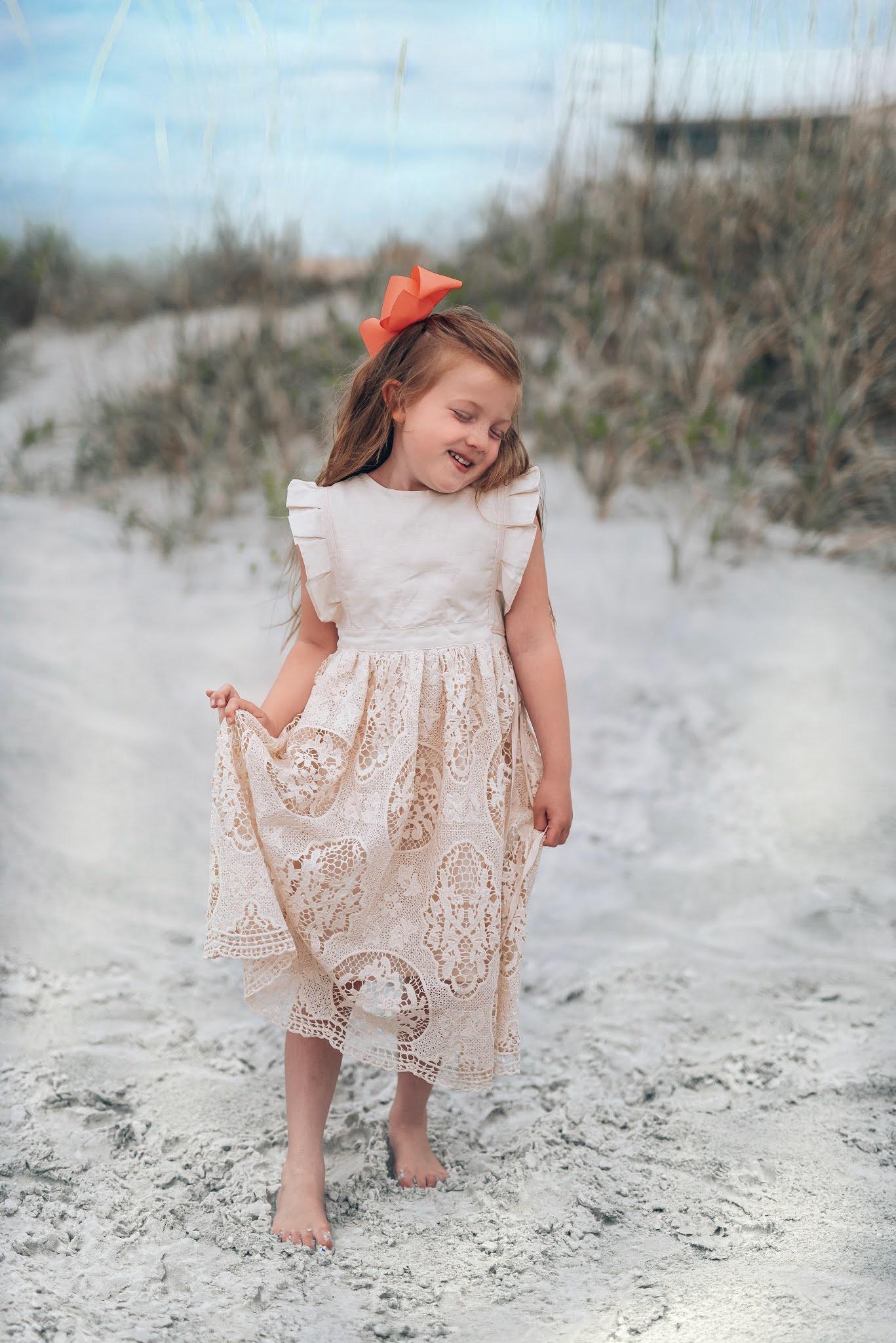 Beach Photos 2021 - Something Delightful Blog #beachphotos #motherdaughter #lifeofasinglemom #newsmyrnabeach