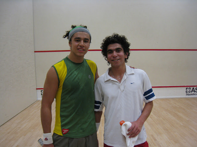 Mohammed El Sherbini, Mohammed Nabil, exhausted after putting on a great show!