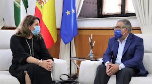 La consejera y Juan Ignacio Zoido durante la reunión.