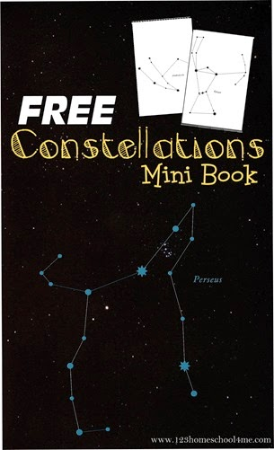 FREE Constellations Mini Book - this free printable makes learning about stars fun for kids preschool, kindergarten, first grade, 2nd grade, 3rd grade, 4th grade, and more. This is great for a solar systems unit or science unit