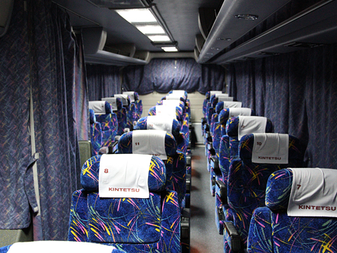 近鉄バス「国虎号」 2302 車内