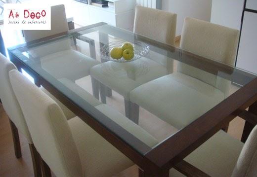 A deco dise o propio juego de comedor for Mesas de cristal y madera para comedor