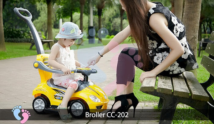 Xe chòi chân trẻ em Broller CC 202 3