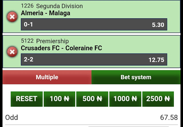 Our daily sure bet9ja odds for today - Football updates and predictions