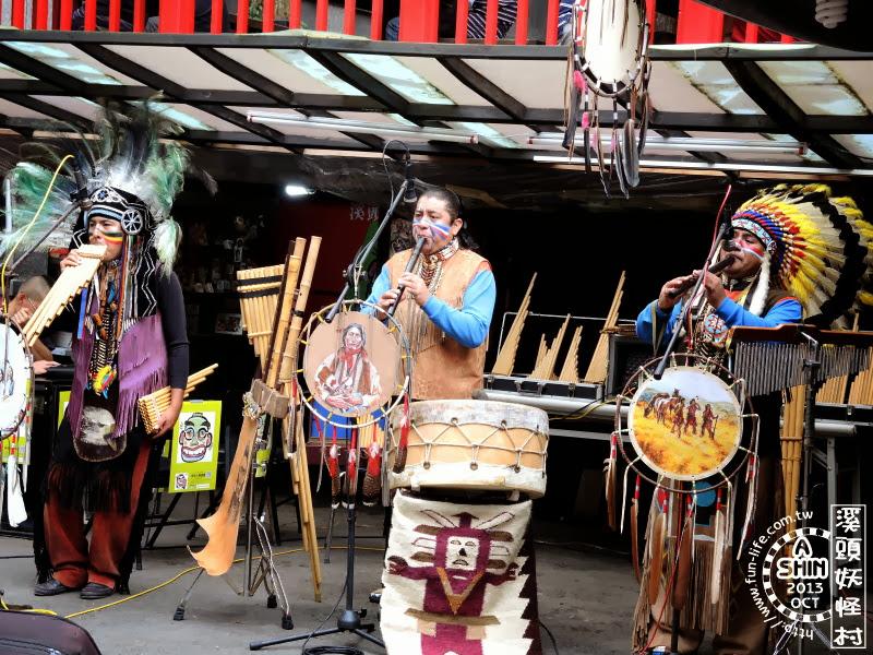 溪頭妖怪村音樂表演,這三個是人不是妖怪