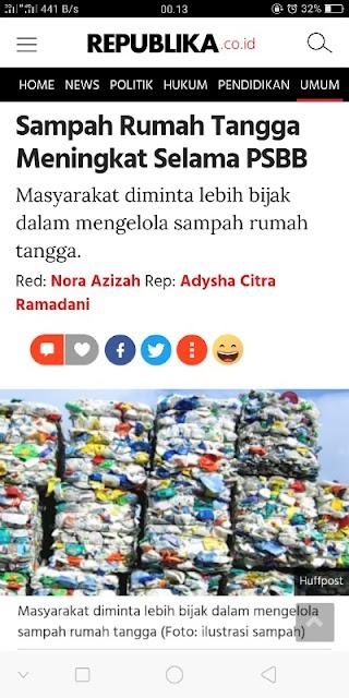 Jumlah sampah meningkat akibat pandemi, bagaimana solusinya?