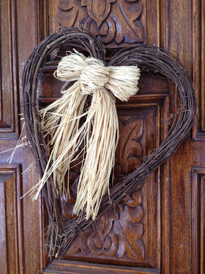 Heart-shaped wreath of twigs (submitted by Darren L.)