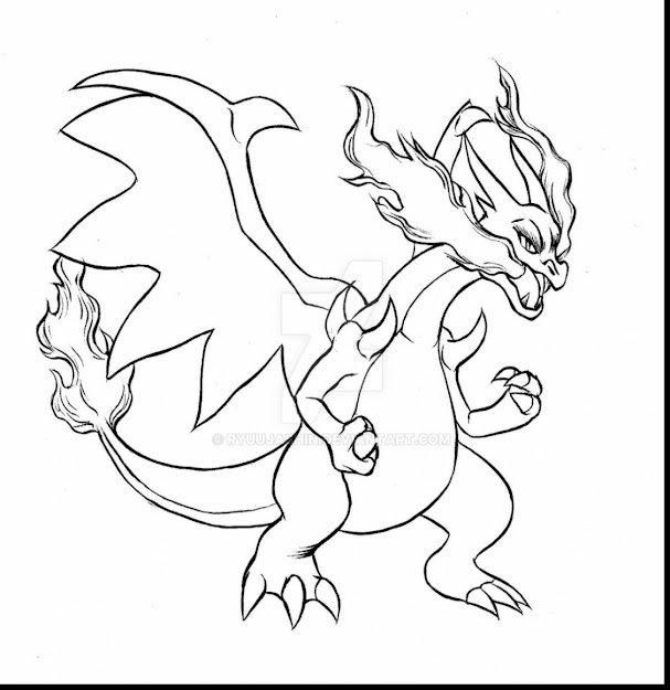 Magnificent Pokemon Mega Charizard Coloring Page With Charizard Coloring  Pages And Mega Charizard Coloring Pages