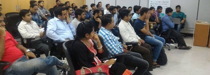 Audience attending the sessions at Xamarin dev-days Kolkata today