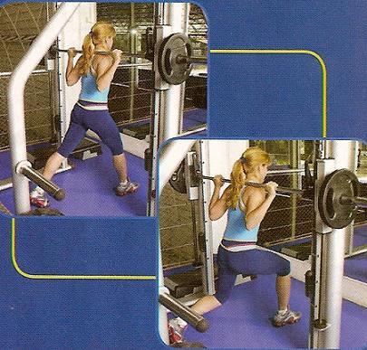 exercício para glúteos - afundo