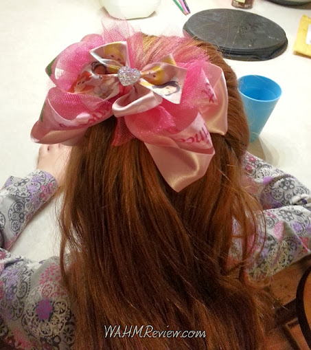 "Monkey, my 5 yo loved her princess hair bow. She says ""I like it. It is SO pretty."