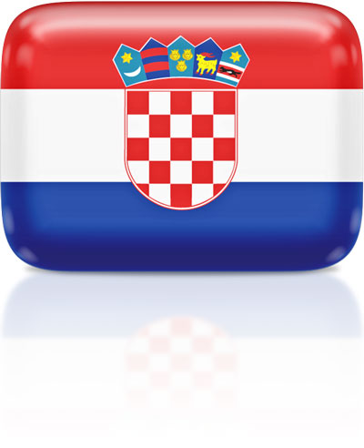 Croatian flag clipart rectangular