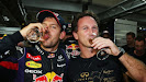Sebastian Vettel & team principal Christian Horner (Red Bull Racing)