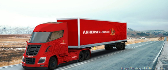 Anheuser-Busch Continues Leadership in Clean Energy, Places Order for 800 Hydrogen-Electric Powered Semi-Trucks with Nikola Motor Company