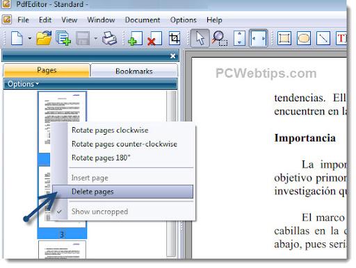 Como eliminar una pagina de un documento pdf pcwebtips - Como panelar una pared ...