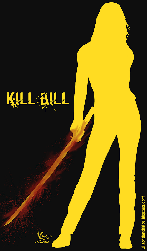 Kill Bill drawing, using Krita 2.5 Beta.