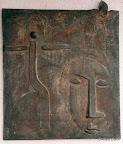 Stegaurach, Hauszeichen, Christophorus, Bronze, 1996