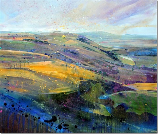 Towards Truleigh Hill, Sussex-Lorna-Holdcroft-ENKAUSTIKOS