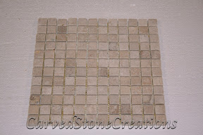 1x1, Flooring, Flooring & Mosaics, Interior, Mosaic, Natural, Stone, Tile, Travertine, Tumbled