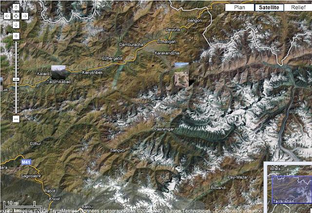 Localisation des photos : vallées de la Surkhob et de la Muksu