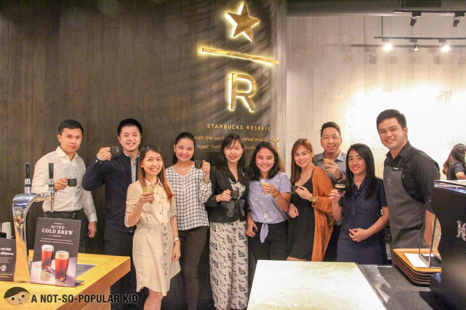 Sabrina Rivas and friends in Starbucks Reserve - Makati