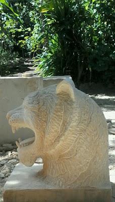 patung air mancur batu alam paras jogja