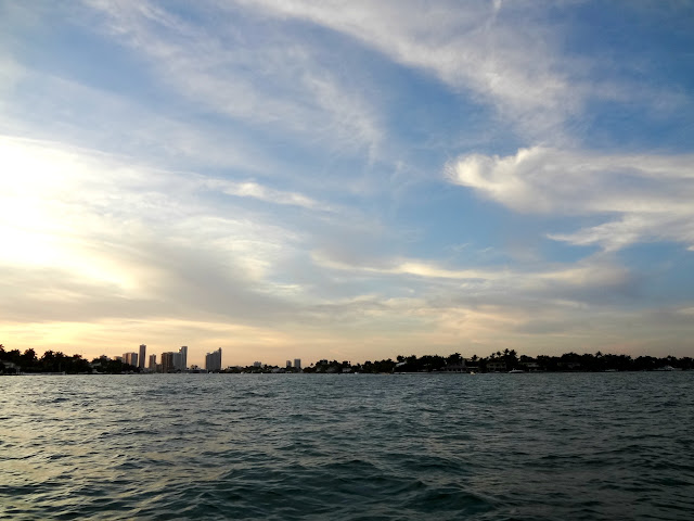 Biscayne Bay at sunset.