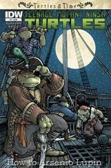 Actualización 07/02/2018: El Yojan de Archivo de Comics y TMNTcomics nos trae un nuevo numero de esta miniserie. ¡Las tortugas llegan a alta mar cuando caen en medio de una batalla pirata! Pero no saben que el verdadero líder de los piratas es un enemigo con el que están demasiado familiarizadas. Ahora Las tortugas dependerán de su valeroso capitán para poder salir de ese período de tiempo con vida, un capitán llamado ¡¿Miguel Ángel ?! ¡Turtle Power!