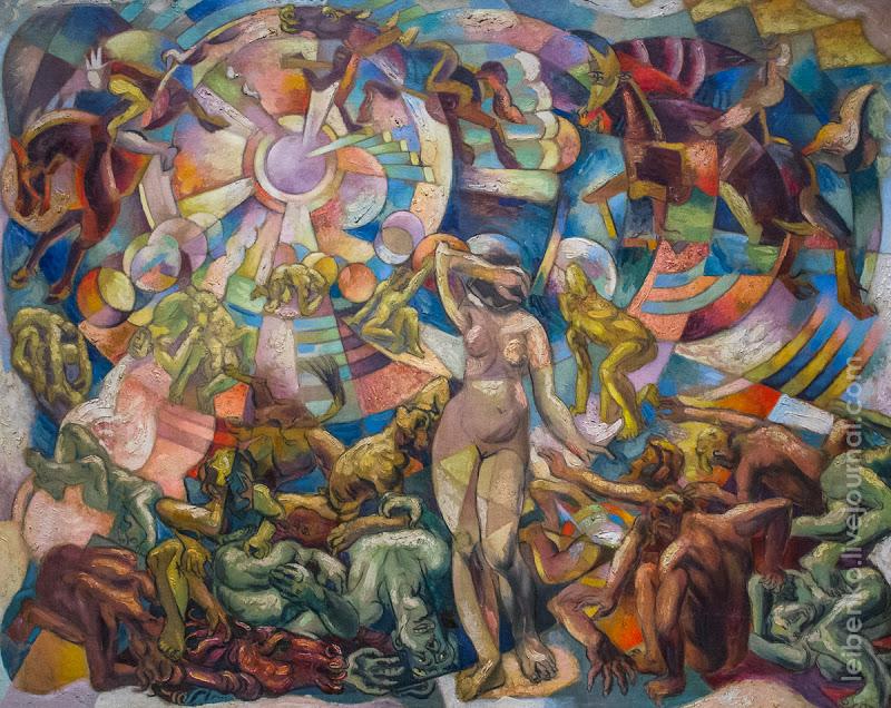 Баранов-Россине Владимир Давидович. 1888-1944 АПОКАЛИПСИС (ЗЕЛЕНЫЙ). 1912-1913 Холст, масло