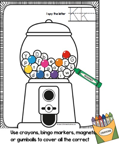 gumball alphabet worksheet preschool kindergarten