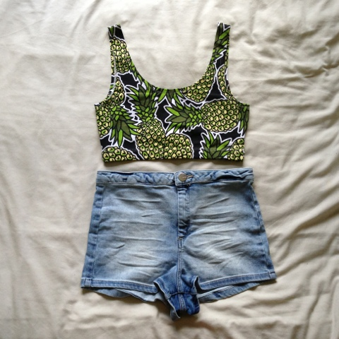 H&M Crop & Topshop Denim Shorts