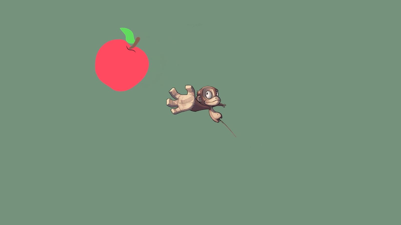 Con khỉ và trái táo gỗ