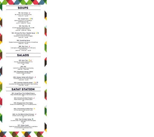 Chi Asian Cookhouse menu 3