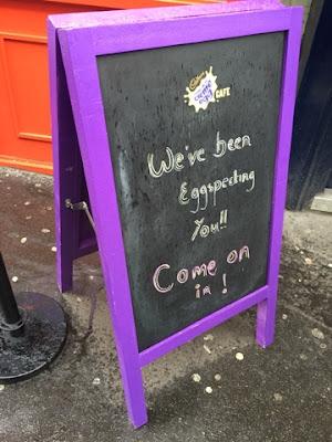 Cadbury's creme egg cafe
