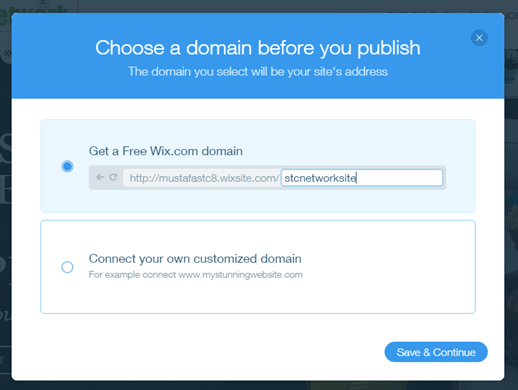 Get a Custom Domain for your Wix Website