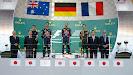2013 Japanse F1 podium: 1. Vettel 2. Webber 3. Grosjean