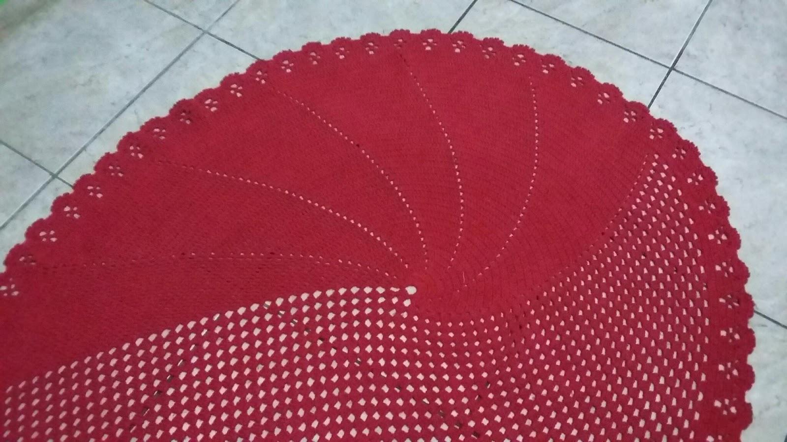 Tapete Oval Em Croch  -> Tapetes De Croche Para Sala
