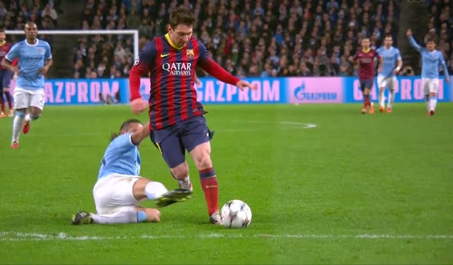 Messi, Manchester City - Barcelona