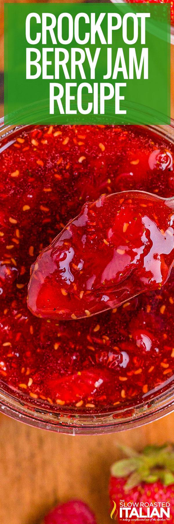 Crockpot Berry Jam closeup