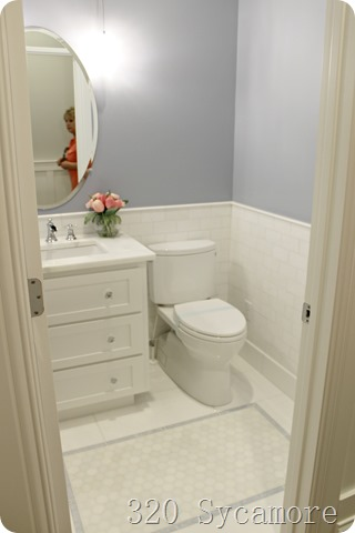 periwinkle bathroom