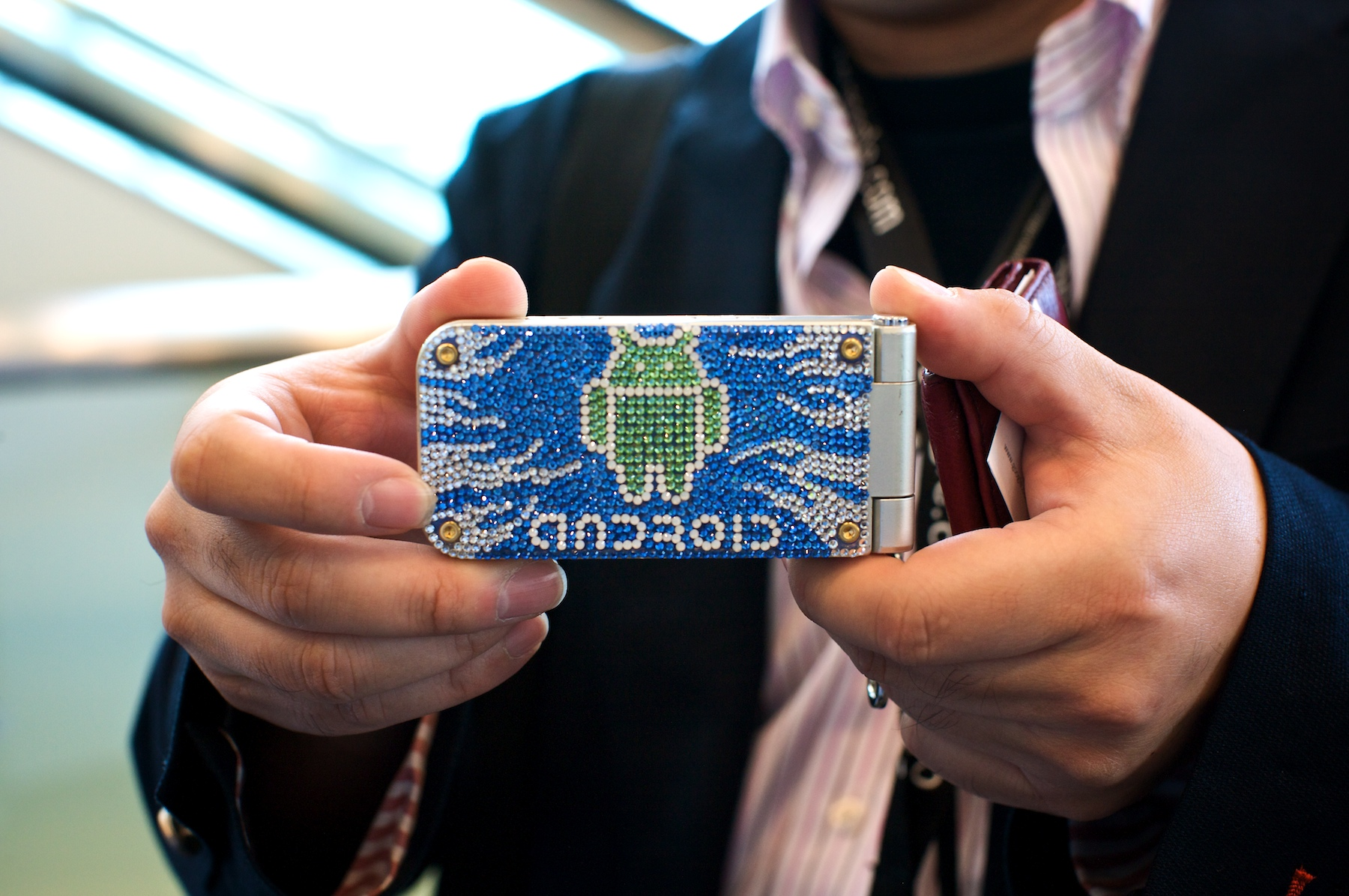 Photo: Spotted at Google I/O on a Japanese visitor's mobile phone.