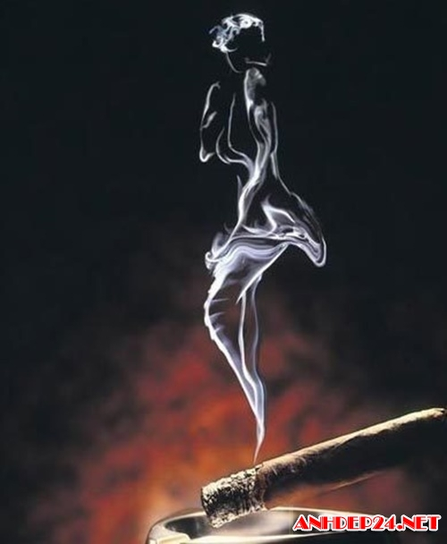 Hình ảnh khói thuốc buồn nghệ thuật đẹp độc đáo