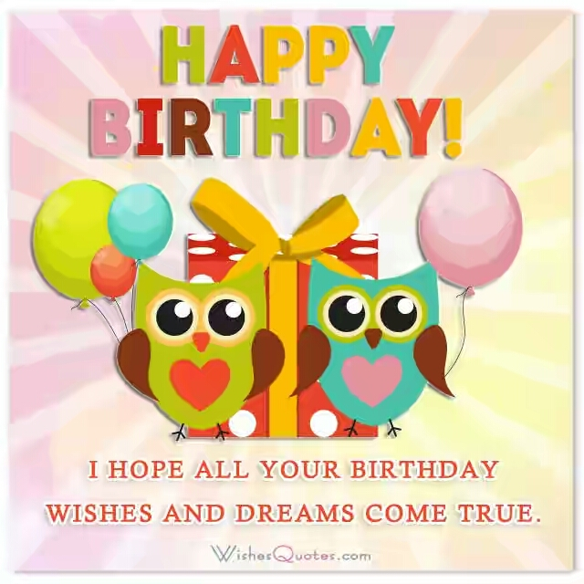 birthday wishes and dreams
