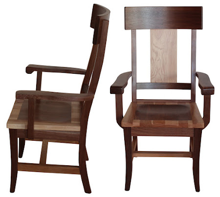Legacy Dining Chair with Arms, in Mixed Wood (Hickory and Walnut)