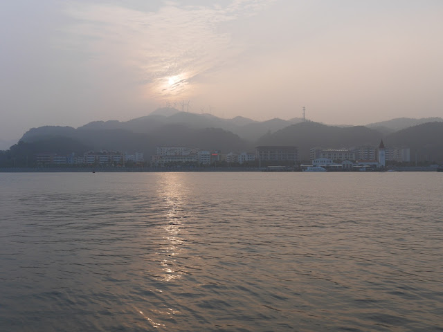 view of Zhuhai from Coloane Village in Macau