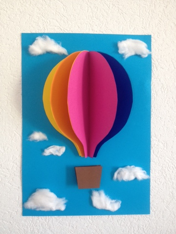 jane bastelt bild f rs kinderzimmer heissluftballon 3d. Black Bedroom Furniture Sets. Home Design Ideas